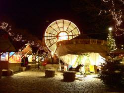 Pariserhjulet under julmarknaden i Helsingör