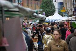 Trendig marknad i östra London