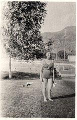Vintage baddräkt för tjejer