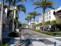 Berömda shoppinggatan Rodeo Drive
