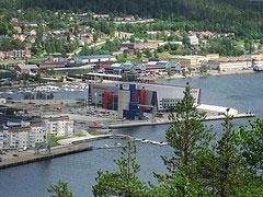 Vy över Swedbank arena i Örnsköldsvik