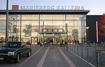 Ingången till Mariebergs galleria