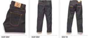 Nudie jeans tre modeller