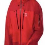 Röd Goretex-jacka