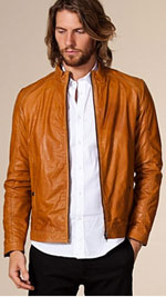 Terry Leather Jacket från Jack & Jones