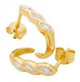 Fina örhängen av guld med diamant-touch