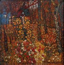 Oljemålning av Gustav Klimt