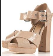 Sandal dam hög klack