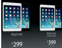 Ipad Mini VS Retina pris i dollar