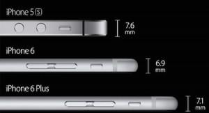 Iphone 6 vs. Plus och 5S jämförelse tjocklek