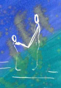 Målning med motiv mamma och barn
