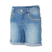 Jeans - shorts med nitar från Kappahl