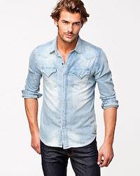 Klassisk jeanskjorta man