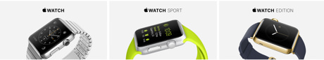 Apple watch tre olika  modeller