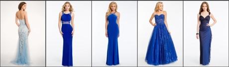 Balklänningar i blått 2019