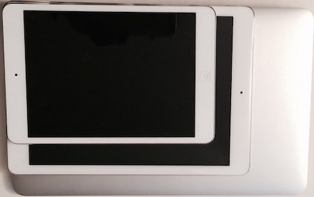 ipad mini vs iPad Air 2 vs Macbook Air 11 tum