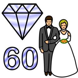 Diamantbröllop firar man på årsdagen 50 år efter man gifte sig