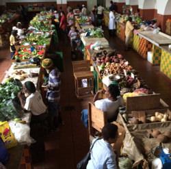 Marknad på Barbados