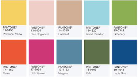 trendiga färger 2016