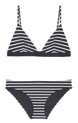 Svartvit-randig bikini från Cos