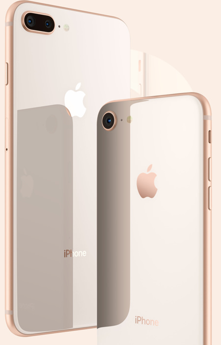 iPhone 8 och 8 Plus